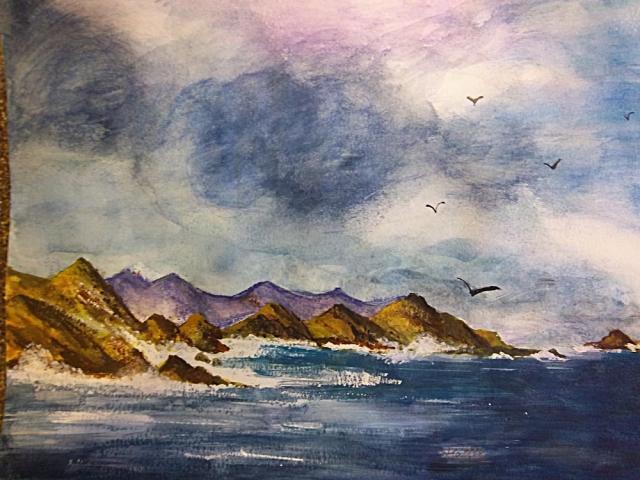 油画材料太贵,对于初学者来说,有下笔的压力,不如先从水彩画开始.