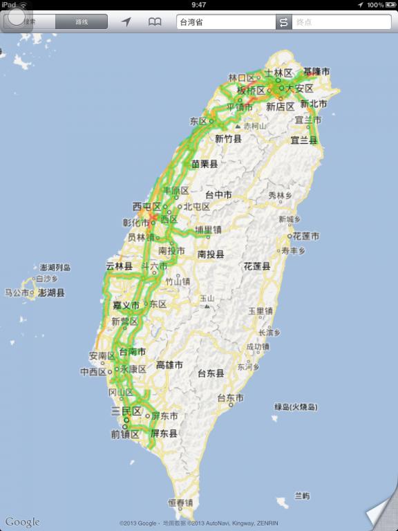 台湾环岛手绘地图